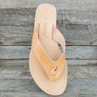 Wide Flip Flops With a Knot and Seams