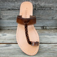 Toe Post Sandals With Braid