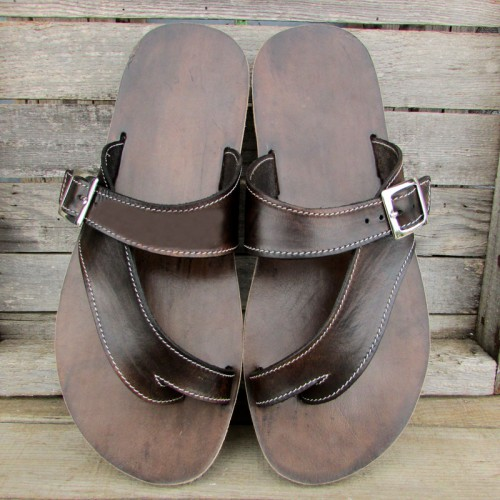 Mens Peep Toe Sandals