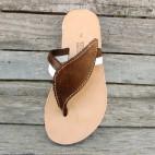 Flip Flops with Decorative Leaf Motif