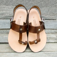 Sling Back T Strap Toe Loop Sandals