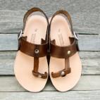 Sling Back T Strap Toe Loop Sandals
