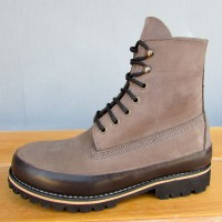 Mens 6 Inch Handmade Cowhide Leather Boots With Boot Guard
