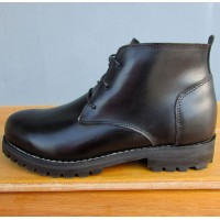 Mens 3 Inch Handmade Cowhide Shepherd Leather Boots