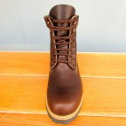 Mens 6 Inch Handmade Cowhide Leather Boots With Collar