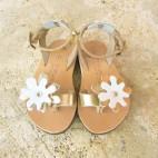 Flower Toe Loop Sandals