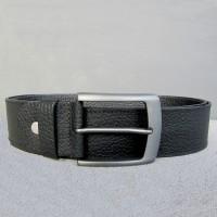 Pebbled Leather Black Belt