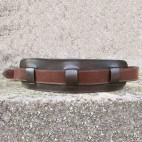 Pebbled Leather Black Belt