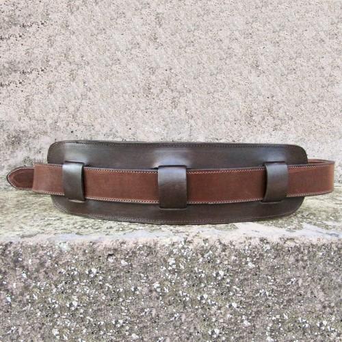 Wide Leather Calfskin Work Belt