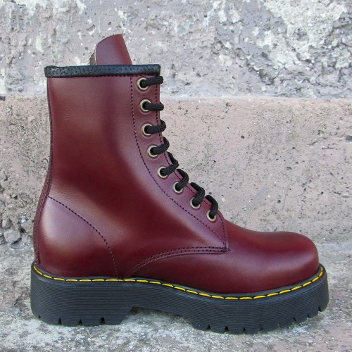 Womens 8 Inch Handmade Leather Boots with 2 Inch Sole