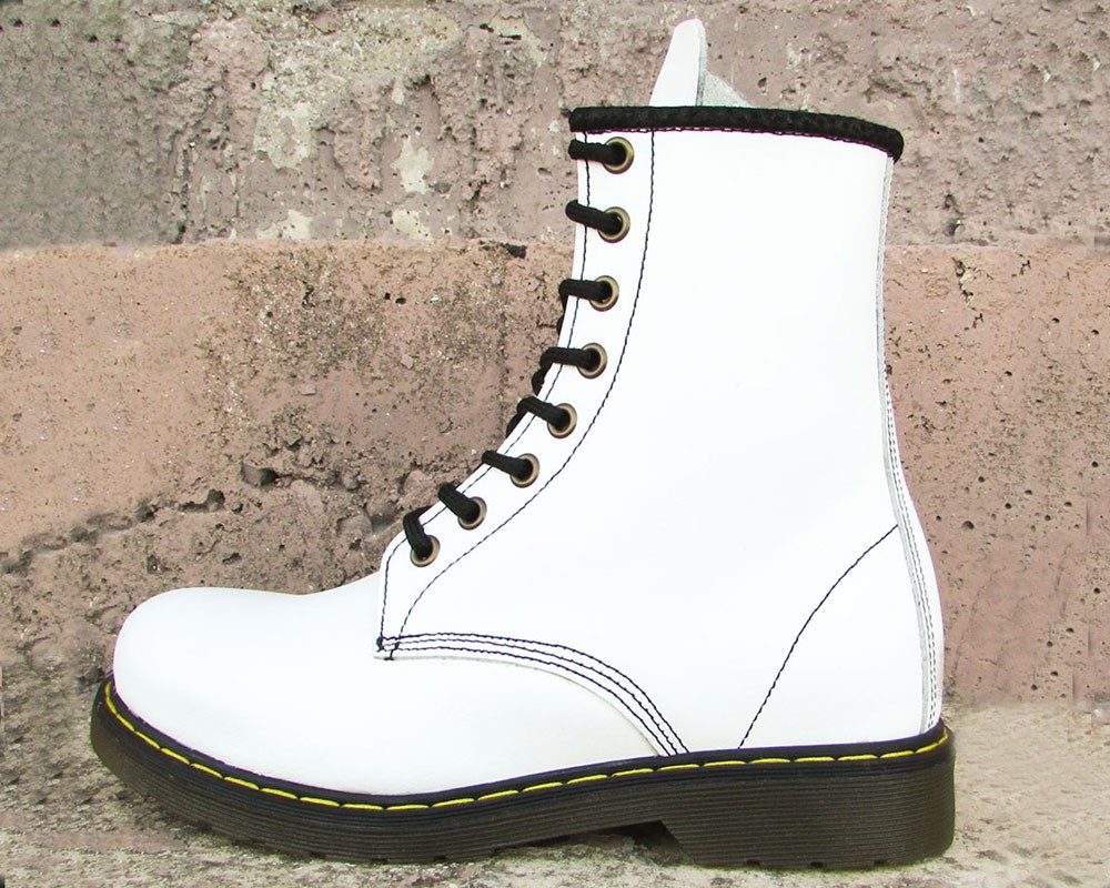 women's 8 inch white boots